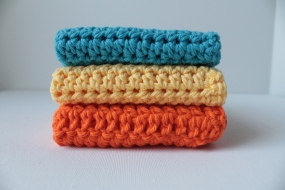 and my fav to make crochet dish cloths